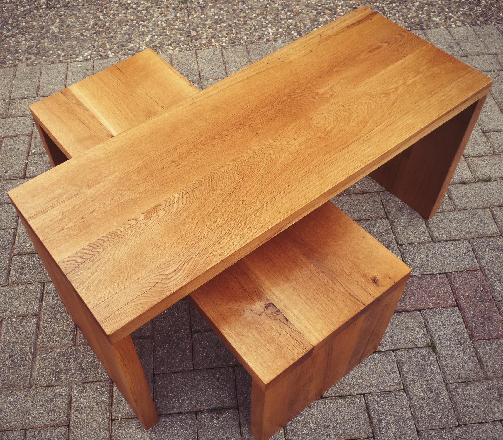 Passion Bois concernant tables basses en chêne massif huilé, vendues par 2 - modèle d'expo